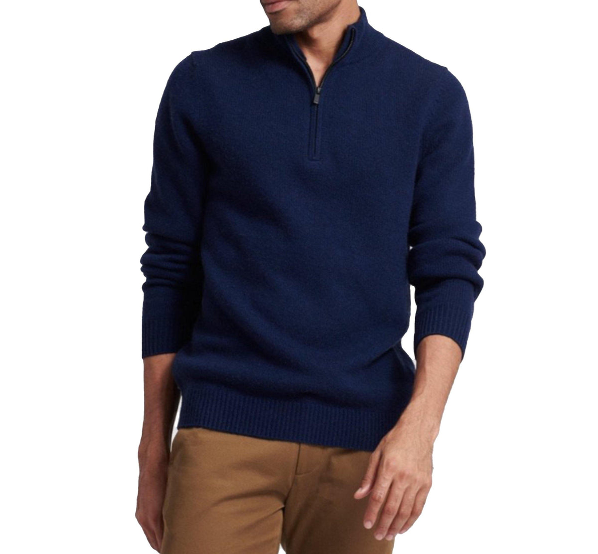 Quarter Zip Raglan - Navy - Wheat Boutique