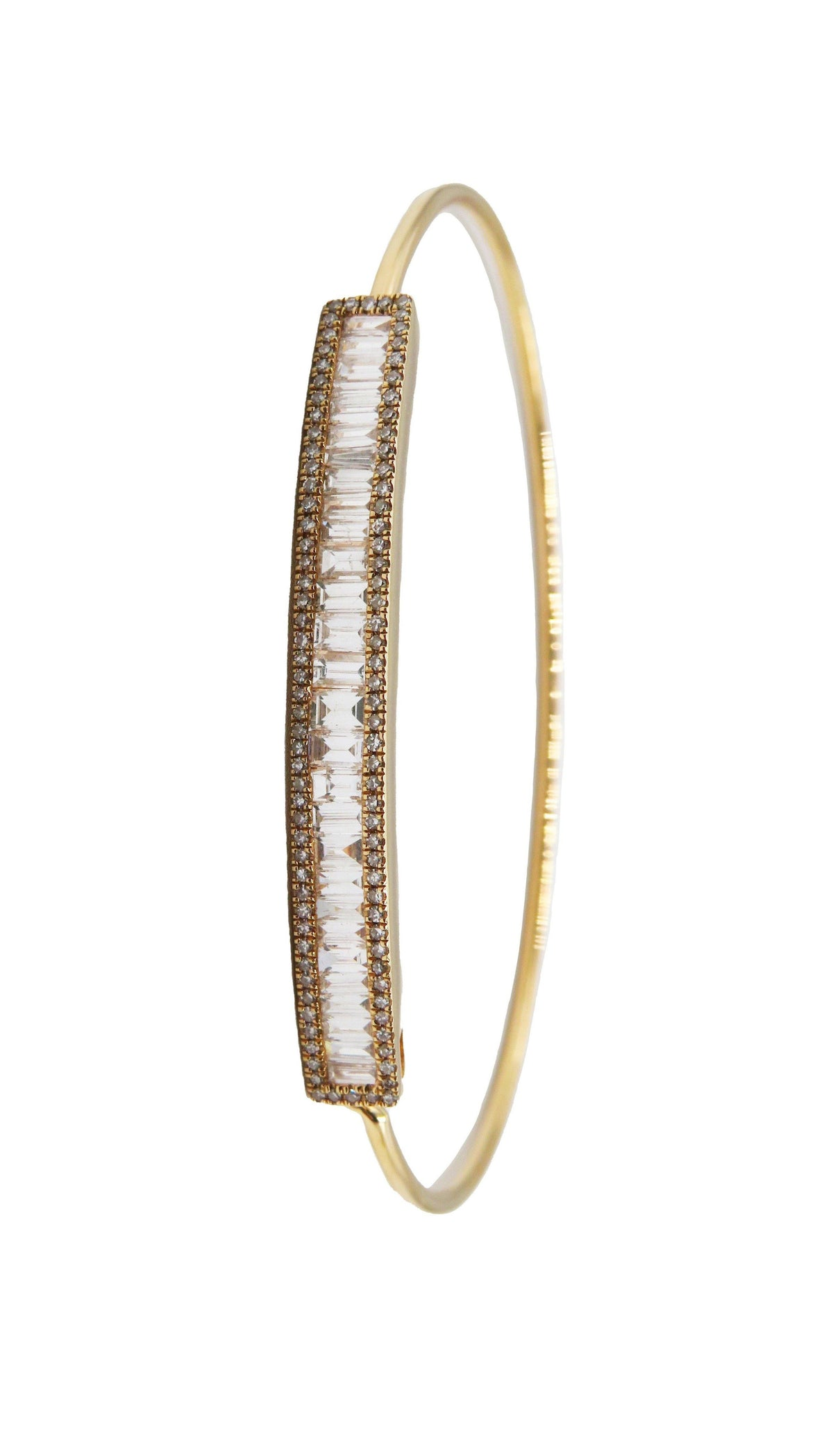 Baguette Diamond Bracelet - Wheat Boutique