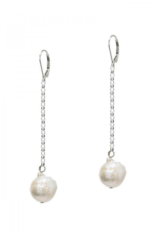Freshwater Pearl Drop Earrings - Wheat Boutique