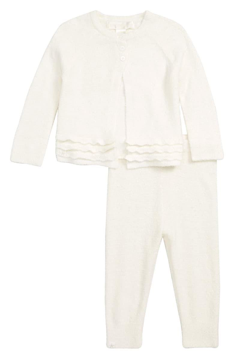 Infant Girl's CozyChic Lite Heirloom Cardi & Pant Set - Wheat Boutique