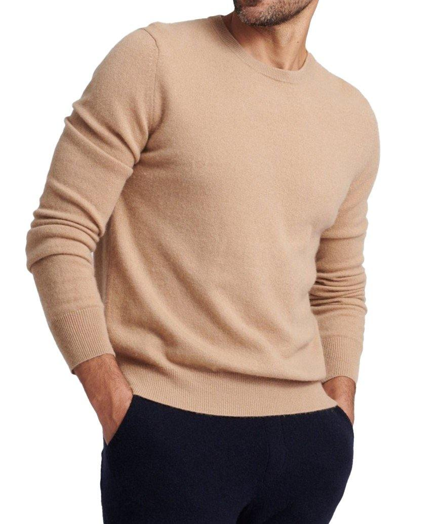 Crew Neck Pullover - Camel - Wheat Boutique