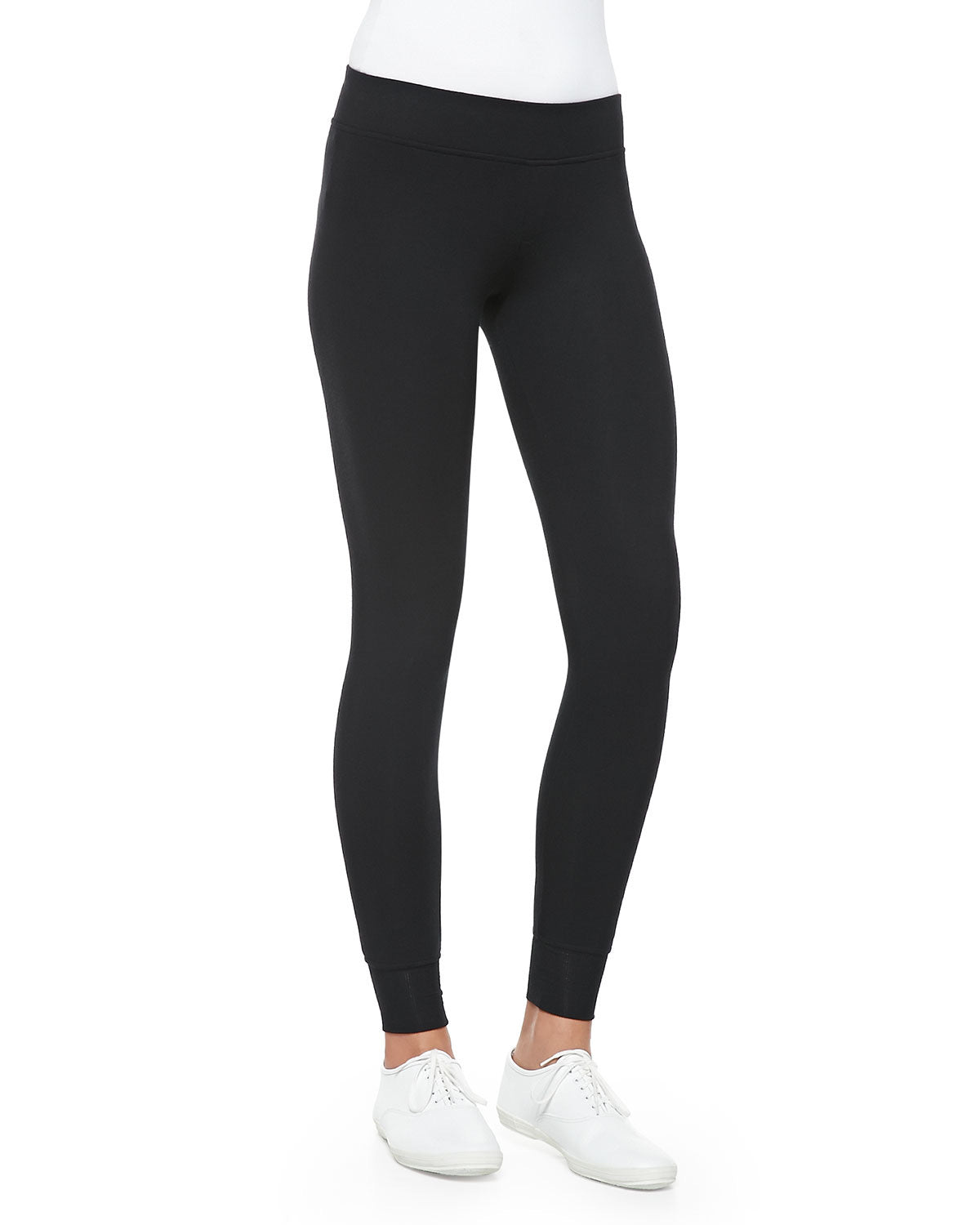 Long Yoga Tights - Black