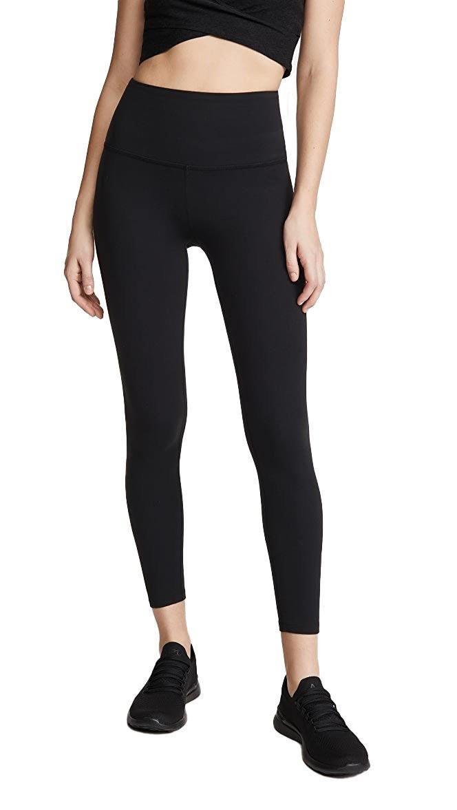 High Waisted Midi Legging - Black - Wheat Boutique