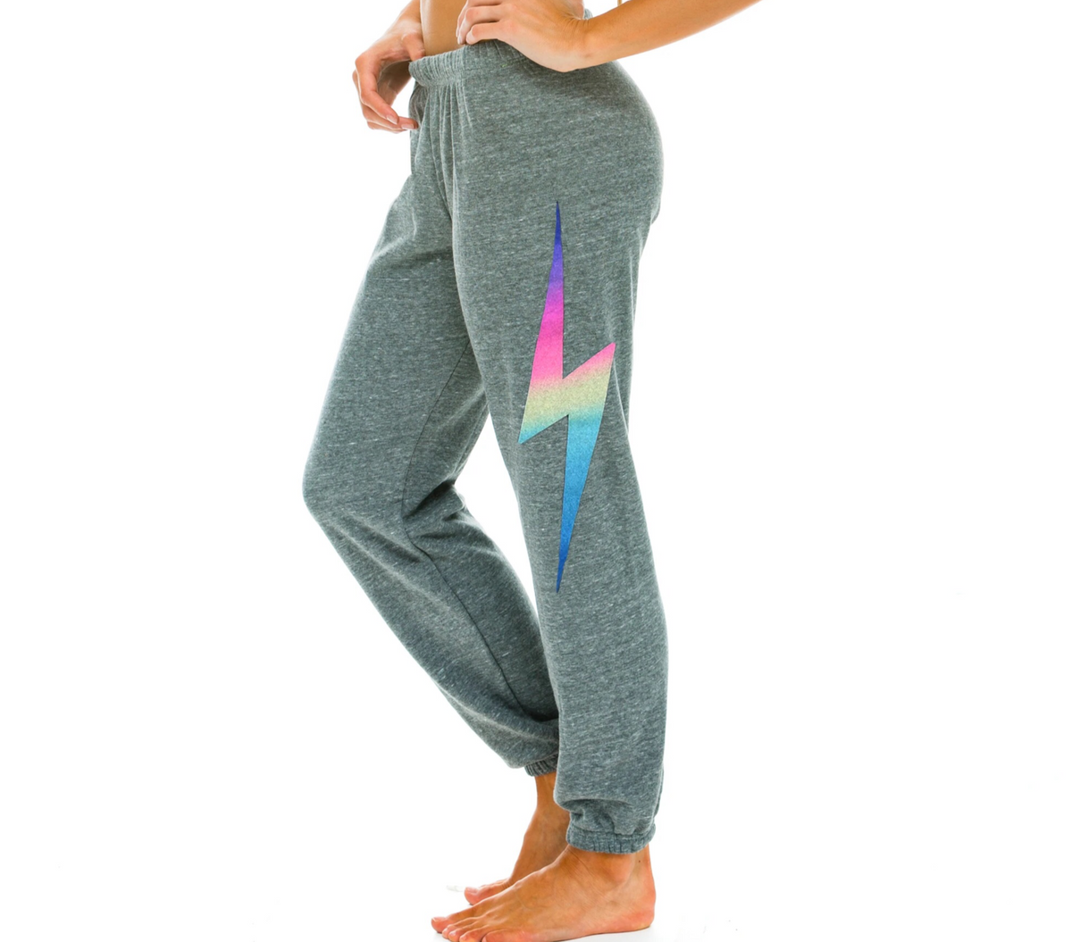 Bolt Sweatpant - Heather Grey - Wheat Boutique