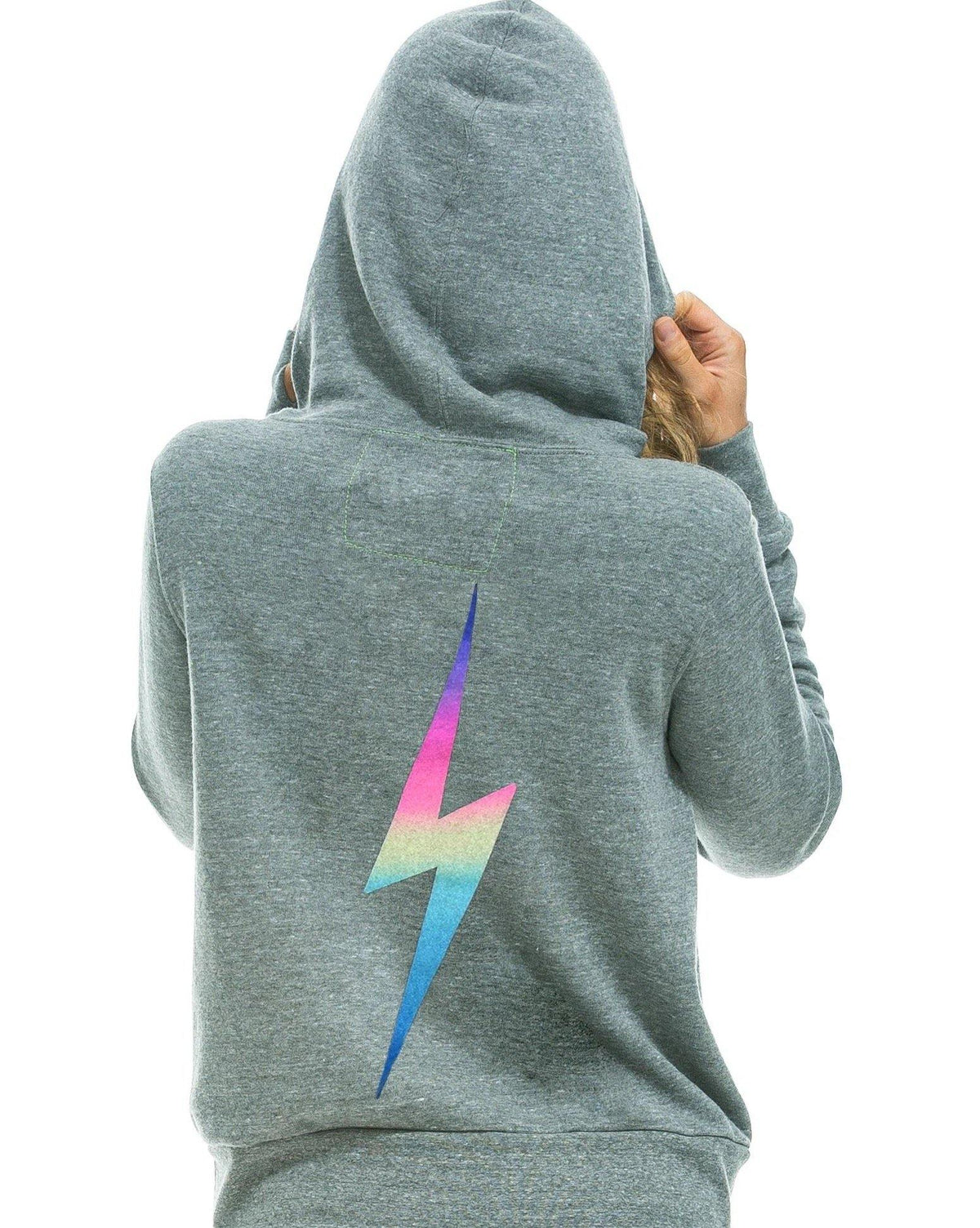 Bolt Zip Hoodie - Heather Grey - Wheat Boutique