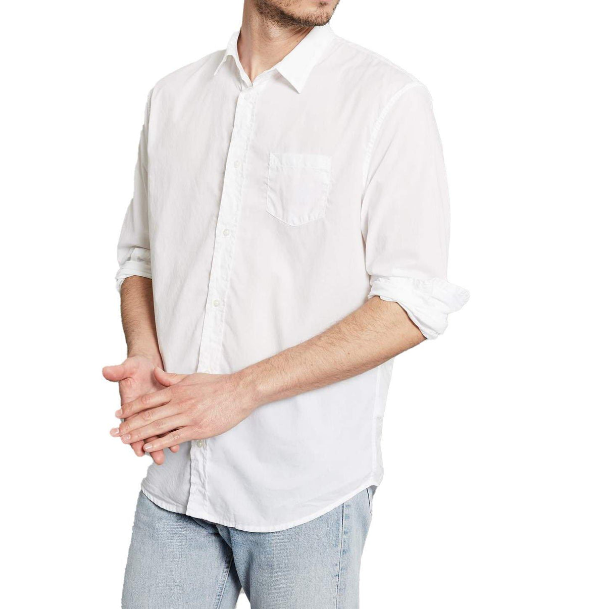 'Luke' Button Down - White - Wheat Boutique