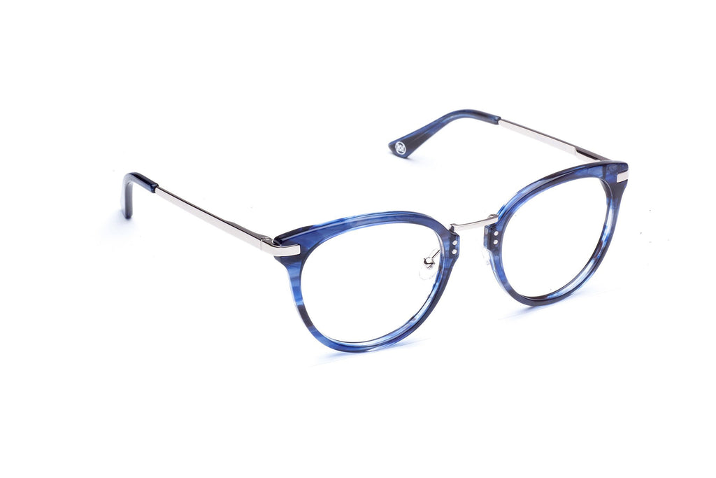 Side angle of Vechio in blue tortoise
