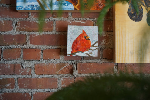 OOAK Cardinal Collage by Wendy Cordwell