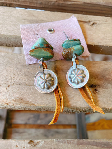 Vidalia Vogue Turquoise Earrings