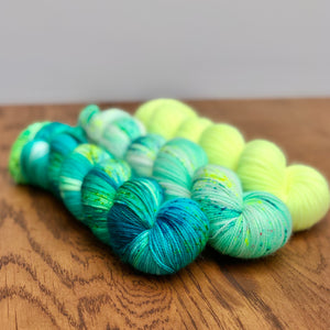 Peacock yarn set * Sock yarn