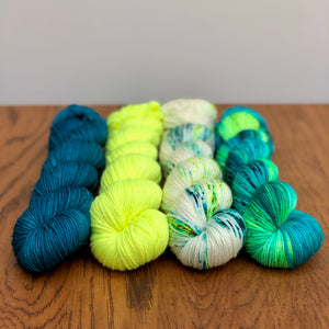 Peacock 4 skein yarn set * Sock yarn