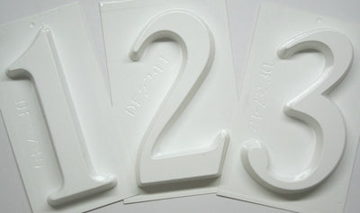 Number Plaster Molds