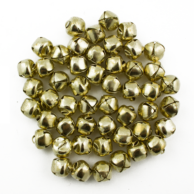 0.5 Inch 13mm Small Mini Gold Craft Jingle Bells Charms Bulk Wholesale 100 Pieces - artcovecrafts.com