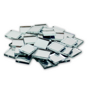 0.5 inch Small Mini Square Craft Mirrors Bulk 100 Pieces Mirror Mosaic Tiles - artcovecrafts.com