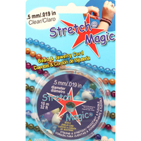 Stretch Magic Elastic Beading & Jewelry Cord Sizes .5mm .7mm 1mm 1.5mm 1.8mm - artcovecrafts.com