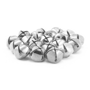 0.75 Inch 20mm Silver Craft Jingle Bells Bulk 120 Pieces - artcovecrafts.com