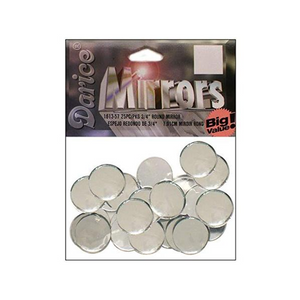 "0.75"" Darice Round Mirrors 25 Pieces 1613-57 - artcovecrafts.com"