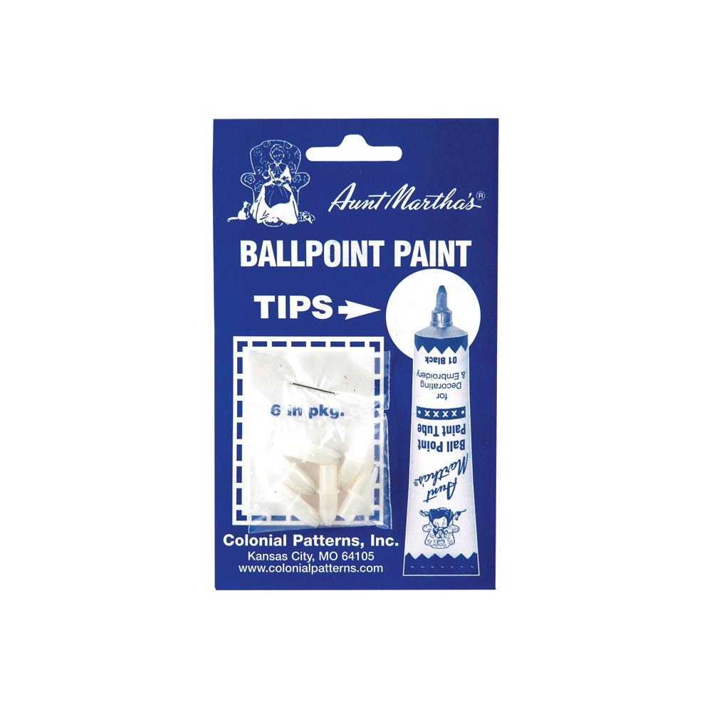 Aunt Martha's Ballpoint Paint Replacement Tips 6 Pieces - artcovecrafts.com