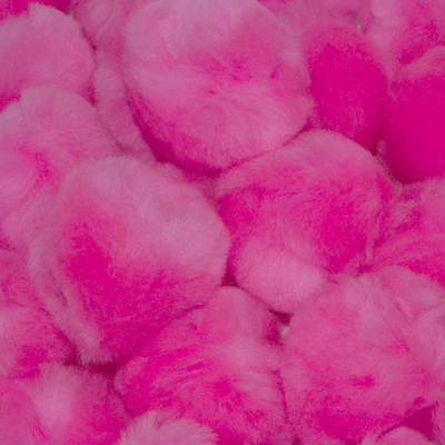 1.5 inch Pink Craft Pom Poms 50 Pieces - artcovecrafts.com