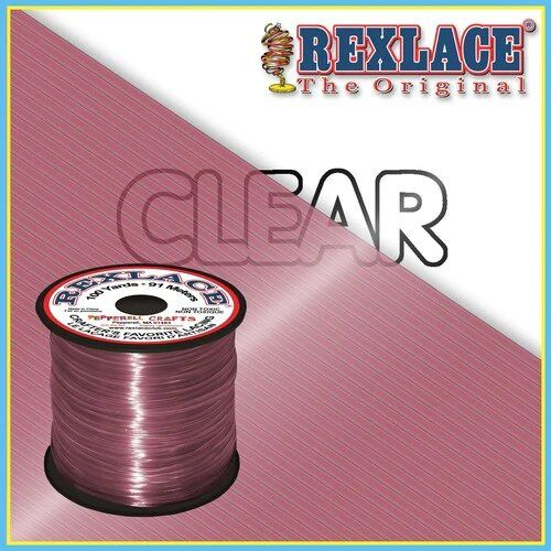 Clear Raspberry Plastic Rexlace 100 Yard Roll - artcovecrafts.com