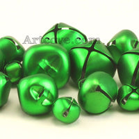 Craft Small Green Jingle Bells Assorted Sizes 1/2, 3/4 and 1 inch 19 Pieces - artcovecrafts.com