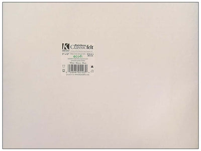9 x 12 Inch White Felt Square Sheet 1 Piece