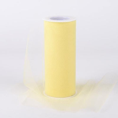 Yellow Tulle 6 inch Roll 25 Yards - artcovecrafts.com