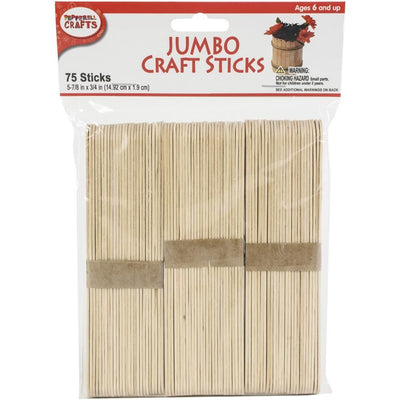 Jumbo Craft Sticks 5-7/8 X 3/4 inch 75 Pieces