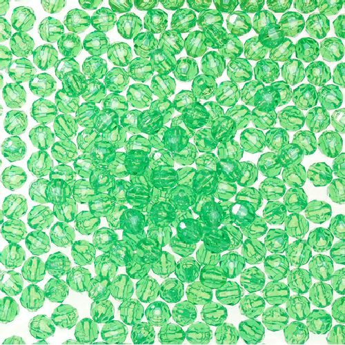 6mm Transparent Mint Green Faceted Beads 480 Pieces - artcovecrafts.com