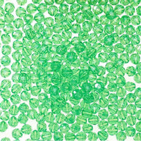8mm Faceted Plastic Beads Transparent Mint Green Bulk 1,000 Pieces - artcovecrafts.com