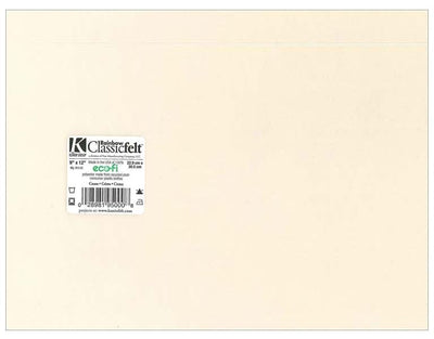 9 x 12 Inch Cream Felt Square Sheet 1 Piece