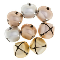 1.5 inch 35mm Gold Silver Rosegold Large Craft Jingle Bells 8 Pieces - artcovecrafts.com