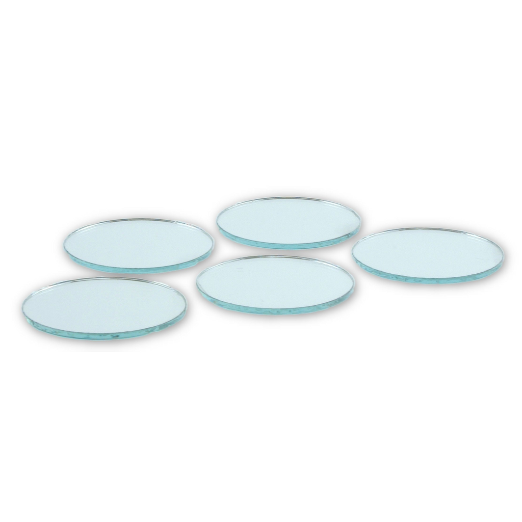 Small Mirror Pieces: 1.5 Inch Small Round Craft Mirrors Bulk 24 Pieces Also