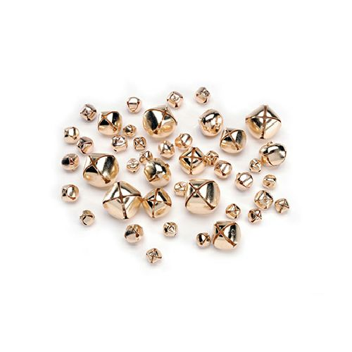 Darice Gold Bells Assorted Sizes 43 Pieces 1090-61 - artcovecrafts.com