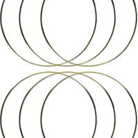 10 Inch Gold Metal Rings Hoops for Crafts Bulk Wholesale 6 Pieces
