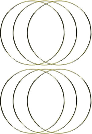 12 Inch Gold Metal Rings Hoops for Crafts Bulk Wholesale 5 Pieces