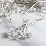 1.5 inch Clear Diamond Corsage Pins 144 Pieces - artcovecrafts.com
