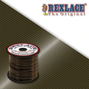 Dark Brown Plastic Rexlace 100 Yard Roll - artcovecrafts.com