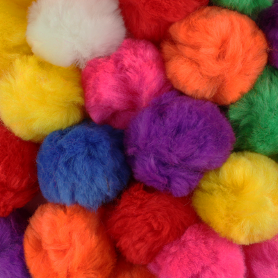 0.75 inch Multi Color Mini Craft Pom Poms 100 Pieces - artcovecrafts.com