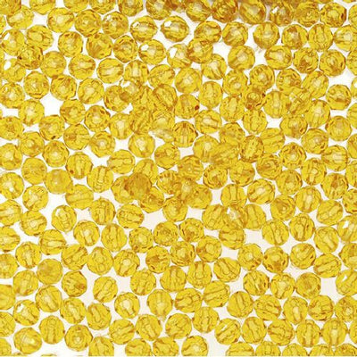 8mm Faceted Plastic Beads Transparent Sun Gold Bulk 1,000 Pieces - artcovecrafts.com