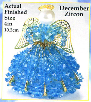December Birthstone Angel Christmas Ornament Kit - artcovecrafts.com