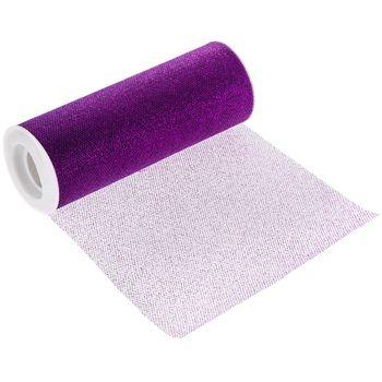 Puple Glitter Tulle Roll 6 inch by 10 Yards