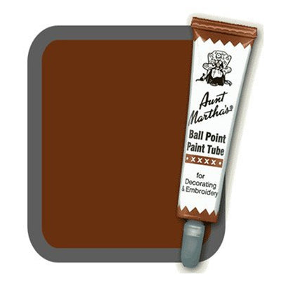 Brown Aunt Martha's Ballpoint Embroidery Fabric Paint Tube Pens 1 oz - artcovecrafts.com