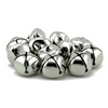 1 Inch 25mm Silver Craft Jingle Bells Bulk 100 Pieces - artcovecrafts.com
