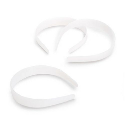 Darice White Plastic Headbands 12 Pieces 1088-06 - artcovecrafts.com