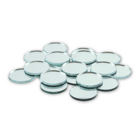 1 inch Small Craft Mini Round Mirrors Bulk 50 Pieces Mirror Small Mosaic Tiles - artcovecrafts.com