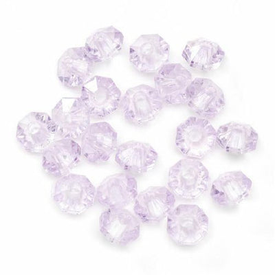 6mm Transparent Light Purple Amethyst Rondelle Faceted Beads 480 Pieces - artcovecrafts.com