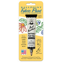 Black Aunt Martha's Ballpoint Embroidery Fabric Paint Tube Pens 1 oz - artcovecrafts.com