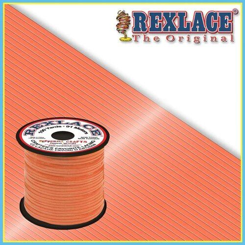 Glow in the Dark Orange Plastic Rexlace 100 Yard Roll - artcovecrafts.com