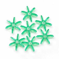 18mm Transparent Mint Starflake Beads 500 Pieces - artcovecrafts.com
